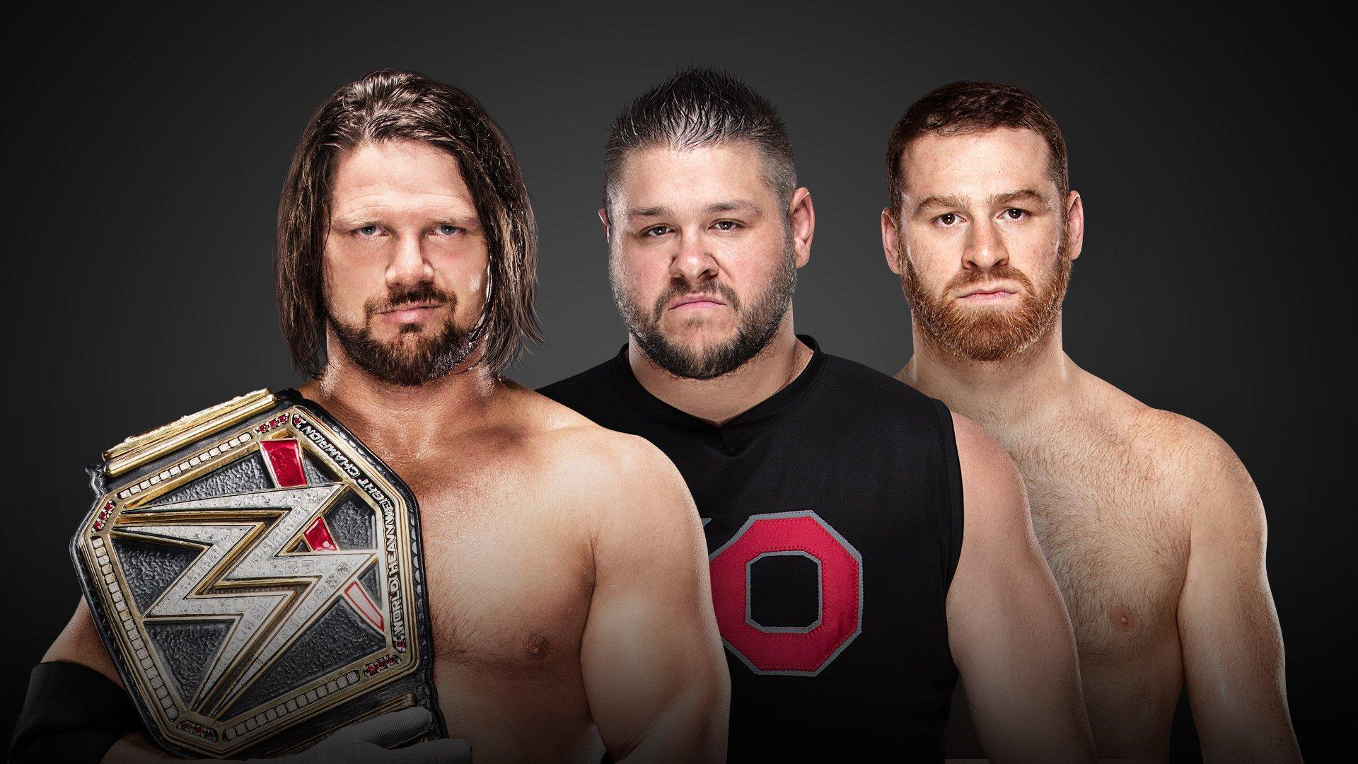 AJ Styles vs Kevin Owens et Sami Zayn - 2-on-1 Handicap Match