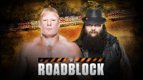 Affiche du Brock Lesnar vs Bray Wyatt à Roadblock 2016