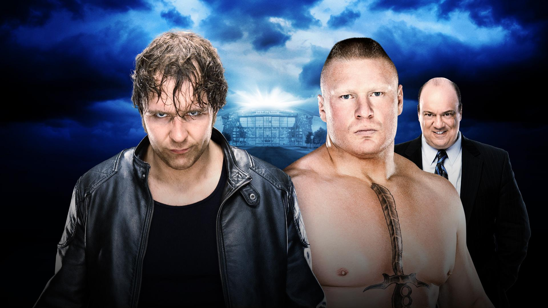 Dean Ambrose vs Brock Lesnar - No Holds Barred Match