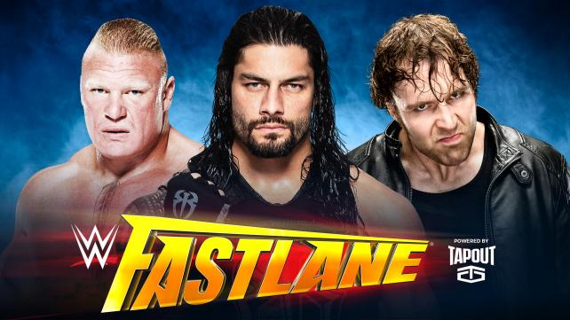 Dean Ambrose vs Roman Reigns vs Brock Lesnar (Triple Threat Match for opportunity to face WWE World Heavyweight Champion Triple H at WrestleMania)