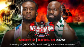 Affiche du Intercontinental Champion Big E vs. Apollo Crews (Nigerian Drum Fight) à WrestleMania 37 (2021)