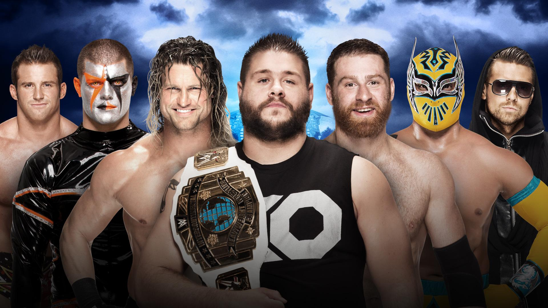 Intercontinental Champion Kevin Owens vs Sami Zayn vs Dolph Ziggler vs Zack Ryder vs Sin Cara vs The Miz vs Stardust
