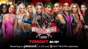 Affiche du Naomi et Lana vs. Mandy Rose et Dana Brooke vs. The Riott Squad vs. Natalya et Tamina vs. Carmella et Billie Kay - Tag Team Turmoil à WrestleMania 37 (2021)