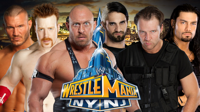 Randy Orton, Sheamus et Ryback vs The Shield