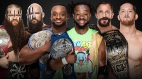 Raw Tag Team Champions The Viking Raiders vs. SmackDown Tag Team Champions The New Day vs. NXT Tag Team Champions The Undisputed ERA
