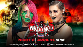 Affiche du Raw Women's Champion Asuka vs. Rhea Ripley à WrestleMania 37 (2021)