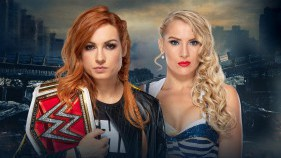 Affiche du Raw Women's Champion Becky Lynch vs Lacey Evans à Stomping Grounds