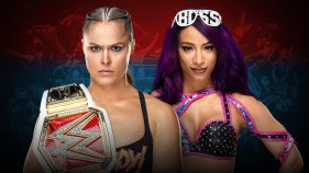 Raw Women's Champion Ronda Rousey vs Sasha Banks