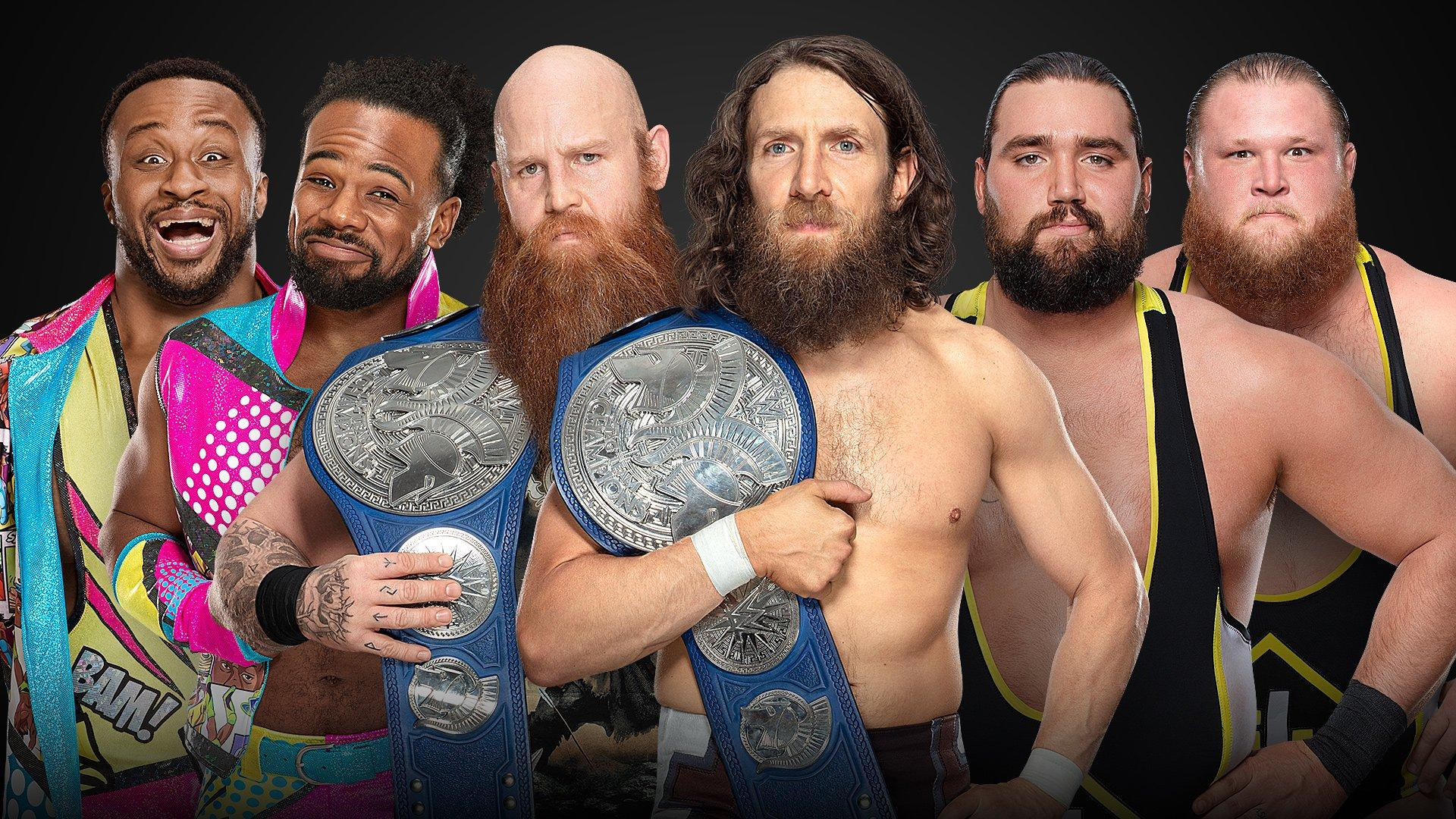 SmackDown Tag Team Champions Daniel Bryan et Rowan vs Big E et Xavier Woods vs Heavy Machinery