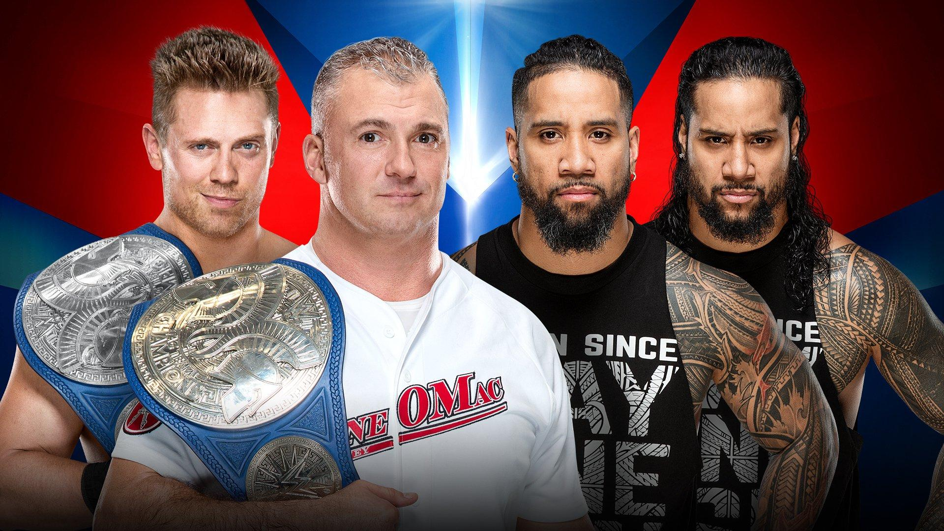 SmackDown Tag Team Champions The Miz et Shane McMahon vs The Usos
