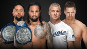 SmackDown Tag Team Champions The Usos vs The Miz & Shane McMahon