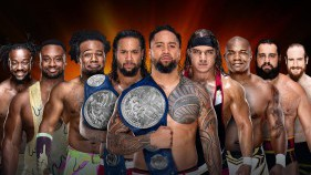 SmackDown Tag Team Champions The Usos vs The New Day vs Shelton Benjamin et Chad Gable vs Rusev et Aiden English