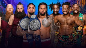 SmackDown Tag Team Champions The Usos vs The New Day vs The Bludgeon Brothers