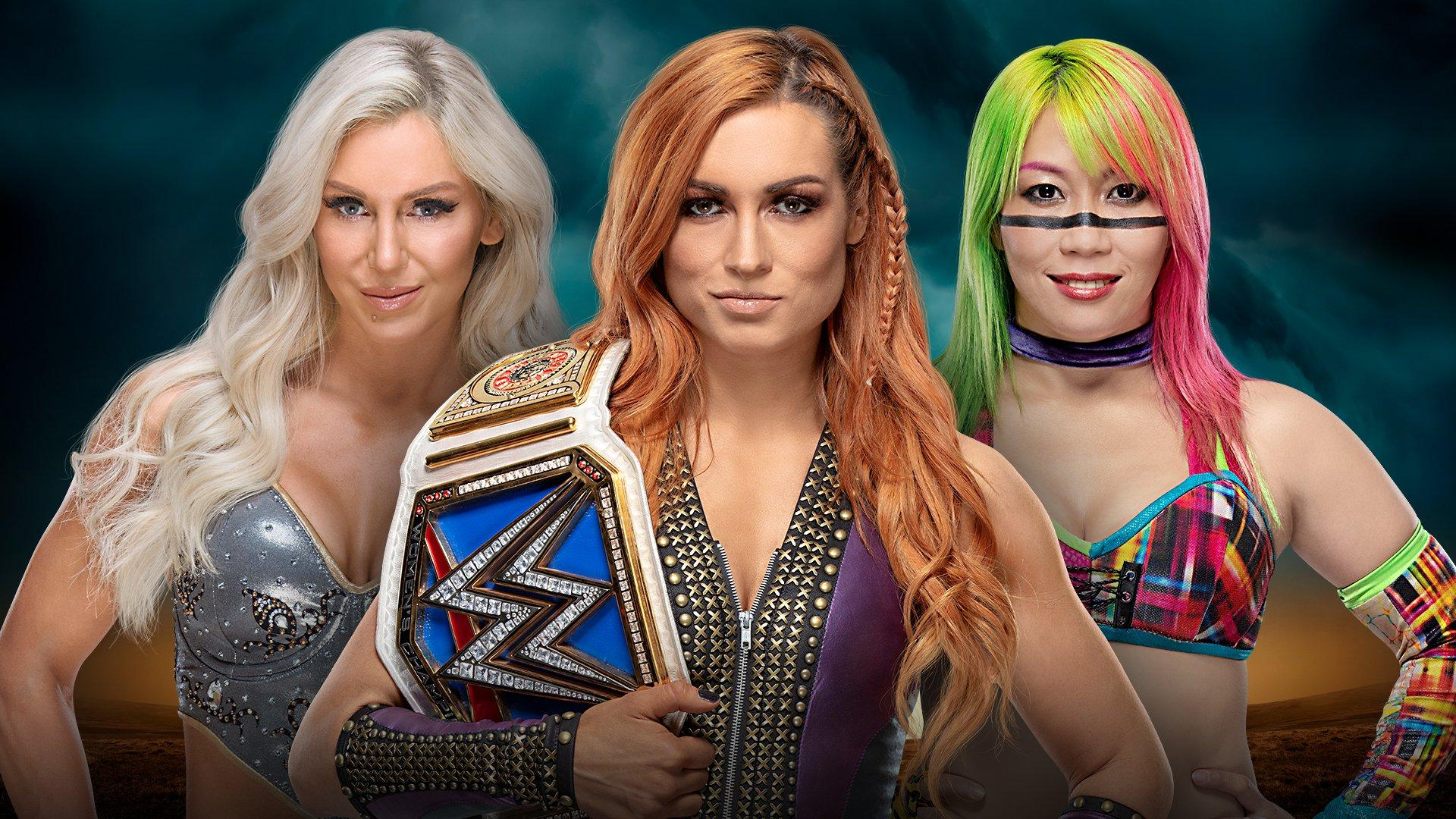 SmackDown Women's Champion Becky Lynch vs Charlotte Flair vs Asuka