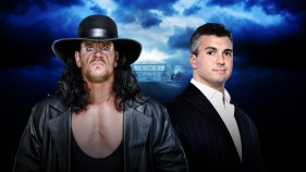 Affiche du The Undertaker vs Shane McMahon - Hell in a Cell Match à WrestleMania 32