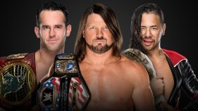 United States Champion AJ Styles vs. Intercontinental Champion Shinsuke Nakamura vs. NXT North American Champion Roderick Strong (Triple Threat Match)