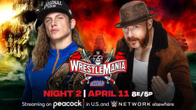 Affiche du United States Champion Riddle vs. Sheamus à WrestleMania 37 (2021)