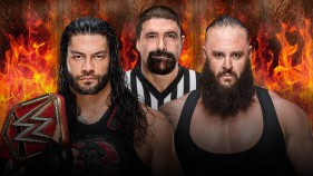 Universal Champion Roman Reigns vs Braun Strowman - Hell in a Cell Match avec Mick Foley en arbitre