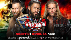 Affiche du Universal Champion Roman Reigns vs. Edge vs. Daniel Bryan - Triple Threat Match à WrestleMania 37 (2021)