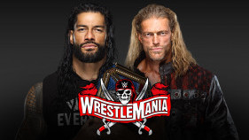 Affiche du Universal Champion Roman Reigns vs. Edge à WrestleMania 37 (2021)