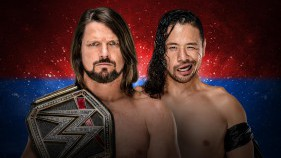WWE Champion AJ Styles vs Shinsuke Nakamura (No Disqualification Match)