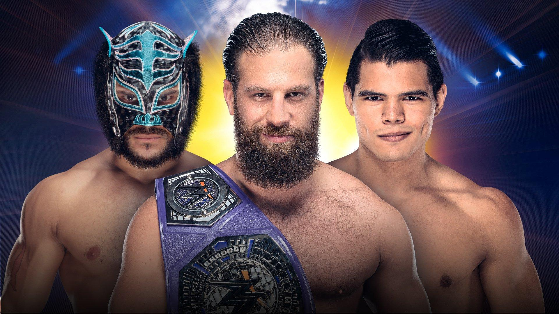 WWE Cruiserweight Champion Drew Gulak vs Humberto Carrillo vs Lince Dorado