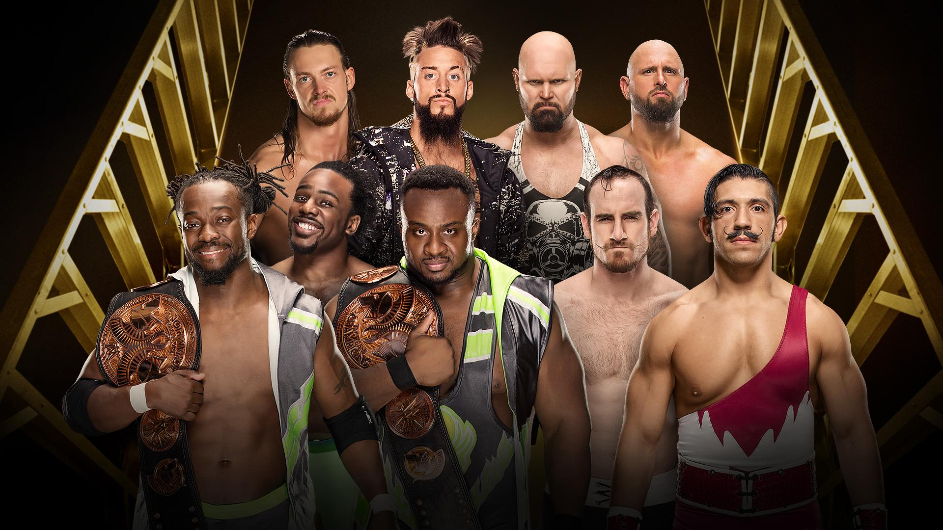 WWE Tag Team Champions The New Day vs Luke Gallows et Karl Anderson vs Enzo Amore et Big Cass vs The Vaudevillains (Fatal 4-Way Match)