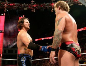 AJ Styles et Chris Jericho se serrent la main