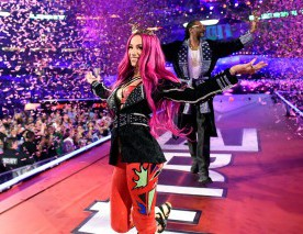 Sasha Banks et Snoop Dogg à Wrestlemania