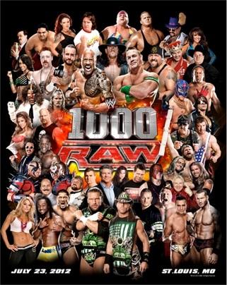 WWE Raw 1000 poster